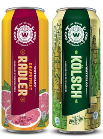 Waterloo Grapefruit Radler and Kolsch (CNW Group/Brick Brewing Co. Limited)