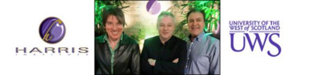 (L to R) Alan McCusker-Thompson, Programme Leader, MA Music: Innovation & Entrepreneurship; David Scott, Programme Leader, MA Songwriting and Performance; John Harris, President, Harris Institute (CNW Group/Harris Institute)
