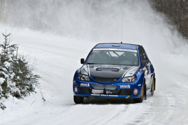 Subaru Rally Team Canada at 2013 Rally of the Tall Pines. Photo credit: Mat Janiak. (CNW Group/Subaru Canada Inc.)