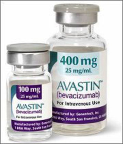 AvastinIV is given intravenously to decrease the blood supply to the tumour and thereby slow tumour growth. (CNW Group/Brooking Media Consulting Inc.) (CNW Group/SUNNYBROOK HEALTH SCIENCES CENTRE)