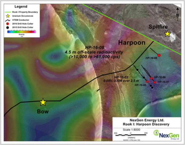 Figure 2: Harpoon Discovery Drill Hole Locations (CNW Group/NexGen Energy Ltd.)