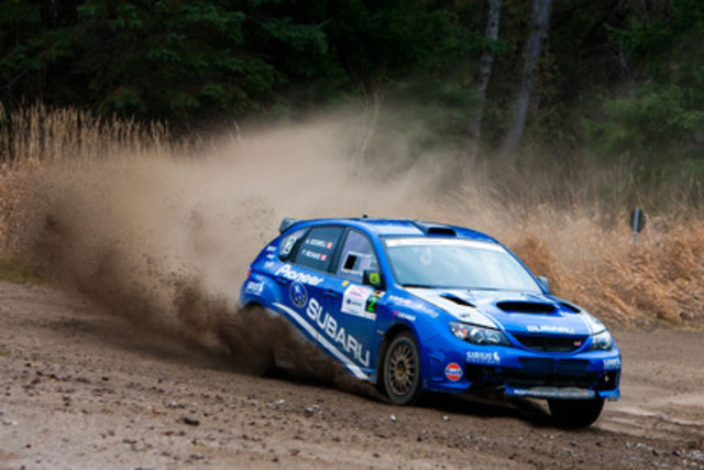 The sixth and final round of the Canadian Rally Championship, the Rally of the Tall Pines, was held November 25-26 in Bancroft, ON. (CNW Group/Subaru Canada Inc.)