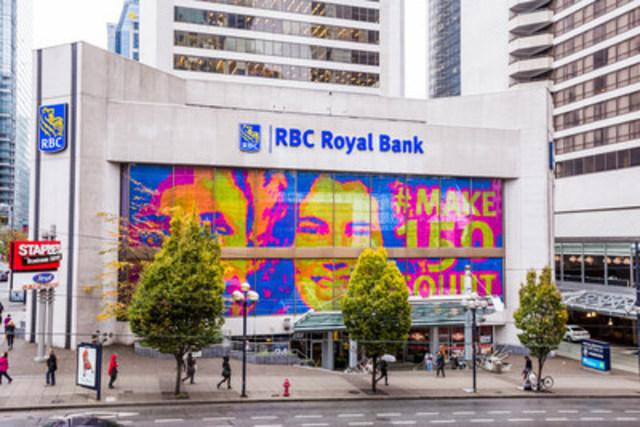 Portrait Post-it #un150quicompte mettant en vedette Maelle Ernestine et Peace Emmanuel, 1025 West Georgia Street, Vancouver (C.-B.) (Groupe CNW/RBC Groupe Financier)