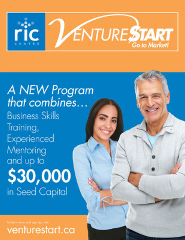 RIC Centre launches VentureStart - a Training and Seed Funding program for Start-ups in Science, Technology, Engineering and Math (CNW Group/VentureStart)