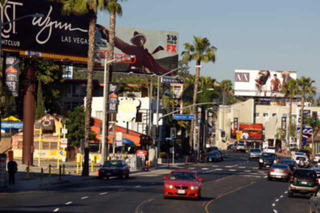 The sunny streets of Los Angeles commanded strong hotel prices as the city where Canadians paid the most for five-star accommodation (CNW Group/Hotels.com)