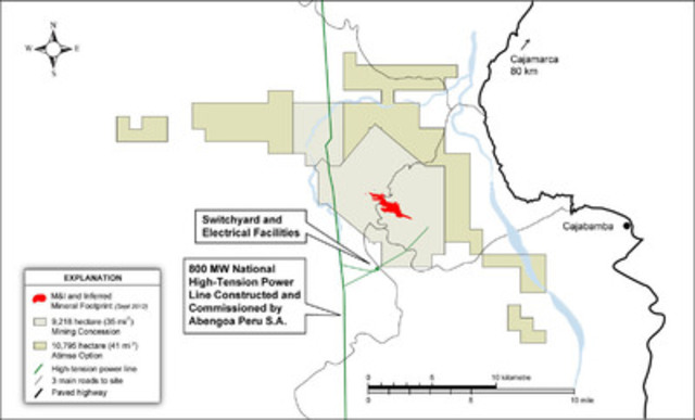 Figure 1 - Switchyard and Electrical Facilities Location Map (CNW Group/Sulliden Gold Corporation Ltd.)