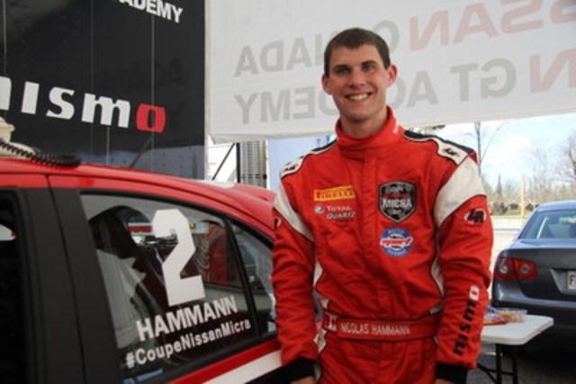 Un prometteur début dans la série pour le pilote Nissan GT Académie Nic Hammann (Groupe CNW/Nissan Canada Inc.)