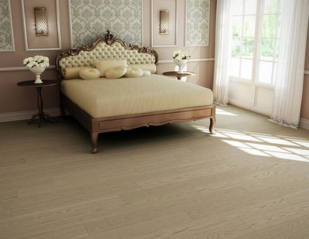 White Oak, oiled, Brushed texture, colour Firenze, 7'', SolidGenius XL (CNW Group/Preverco)