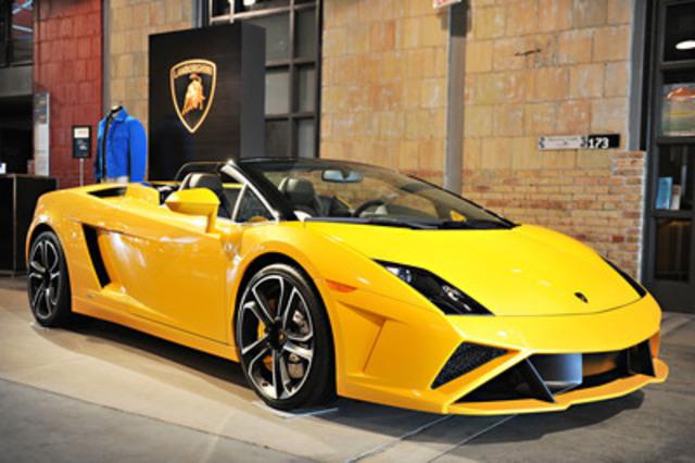 Grand Touring Automobiles, the exclusive retailer for Lamborghini in Ontario, showcases the 2013 Lamborghini Gallardo Spyder to more than 700 customers in Toronto. (CNW Group/Grand Touring Automobiles)