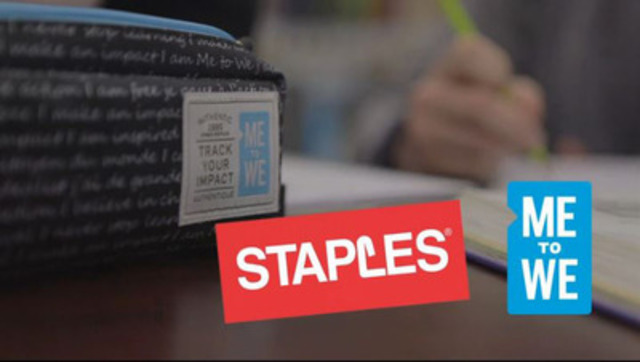 VIDEO: Today Marc Kielburger, Staples and ACCO Brands launched Me to We's first line of eco-friendly school supplies that make an impact for youth overseas. See video for more information about the products and find out how, for the first time, Canadians are opening the doors to education for thousands of children in Latin America, Africa and Asia.