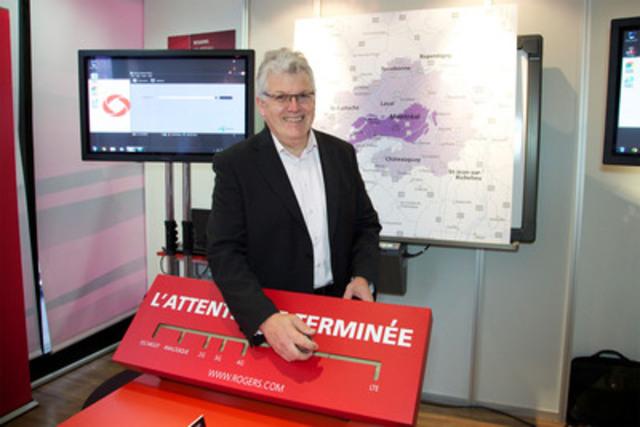 Sylvain Roy, président Rogers Québec, a lancé ce matin le premier réseau sans-fil LTE à Montréal. Dorénavant, les Montréalais auront donc accès à la technologie de réseau sans fil la plus rapide au monde. (Groupe CNW/Rogers Communications Inc. - Français)
