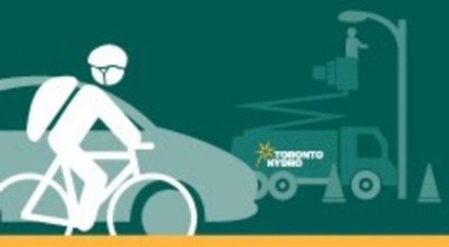 Toronto Hydro wants drivers, cyclists and pedestrians to use extra caution around work crews, especially during the Pan Am/Parapan Am games. (CNW Group/Toronto Hydro Corporation)