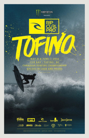 Canada's greatest surfers come to Tofino May 31 & June 1 for the Rip Curl Pro - Canadian Surfing Championship (CNW Group/Rip Curl Canada)
