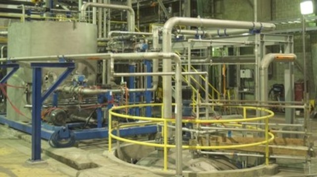 High-res photo 2 - inside West Fraser's Hinton Pulp Lignin Recovery Plant (CNW Group/Alberta Innovates - Bio Solutions)