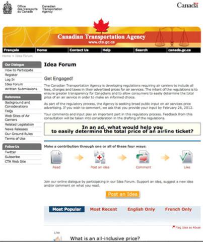 Idea Forum. (CNW Group/Canadian Transportation Agency)