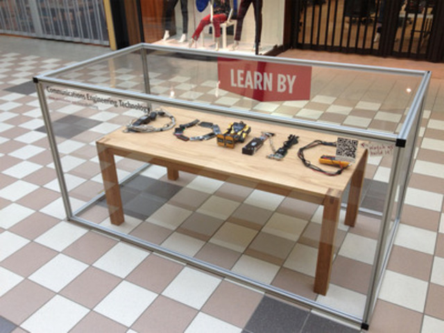 "A ""Learn By Doing"" installation for Assiniboine Community College. The displays all feature different  ..."