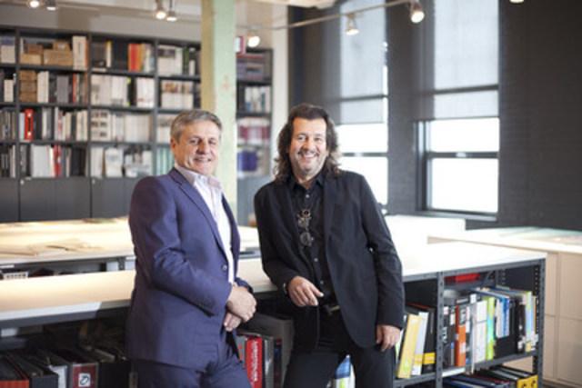 Lemay acquiert le réputé cabinet de design Andres Escobar & Associés. De gauche à droite : Louis T. Lemay, président et facilitateur d'excellence chez Lemay et Andres Escobar, Associé principal chez Lemay et directeur création du Studio Escobar Design. (Groupe CNW/Lemay)