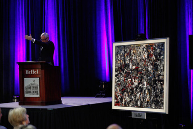 Jean Paul Riopelle's Pleine saison sold for $1,298,000 at last night's Heffel's 2014 Spring Auction in Vancouver. (CNW Group/Heffel Fine Art Auction House)