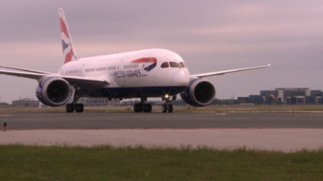 Video: State-of-the-art passenger jet touched down in Toronto on Sept. 1