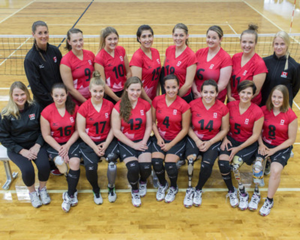 Volleyball Canada and the Canadian Paralympic Committee are proud to announce the 12 athletes nominated for selection to Team Canada to make history in women's sitting volleyball at the Rio 2016 Paralympic Games this September. Photo: Jody Bailey / Volleyball Canada (CNW Group/Canadian Paralympic Committee (CPC))