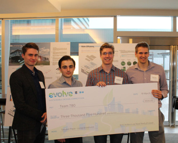 First Runner Up - $3,500 : Gandhi Habash, Daniel Chapotchkine, Peter Fisher, Alec Rancourt. University of Ottawa / Carleton University (CNW Group/RBC)