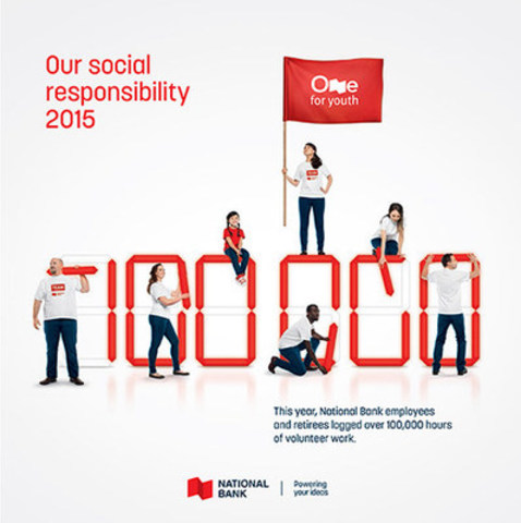 National Bank Presents Its 2015 Social Responsibility Report (CNW Group/National Bank of Canada)