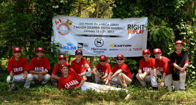 The Canadian Little League Team in Uganda (CNW Group/SANOFI PASTEUR)
