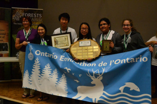 Forests Ontario announces University of Toronto Schools as Ontario Envirothon champion at annual provincial competition (CNW Group/Trees Ontario)