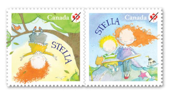 Postes Canada a émis aujourd'hui deux timbres consacrés à la littérature pour enfants et illustrant Stella, une création de Marie-Louise Gay, auteure-illustratrice maintes fois primée. (Groupe CNW/Postes Canada)