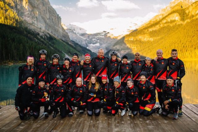 Sears National Kids Cancer Ride - Lake Louise (CNW Group/Sears Canada Inc.)
