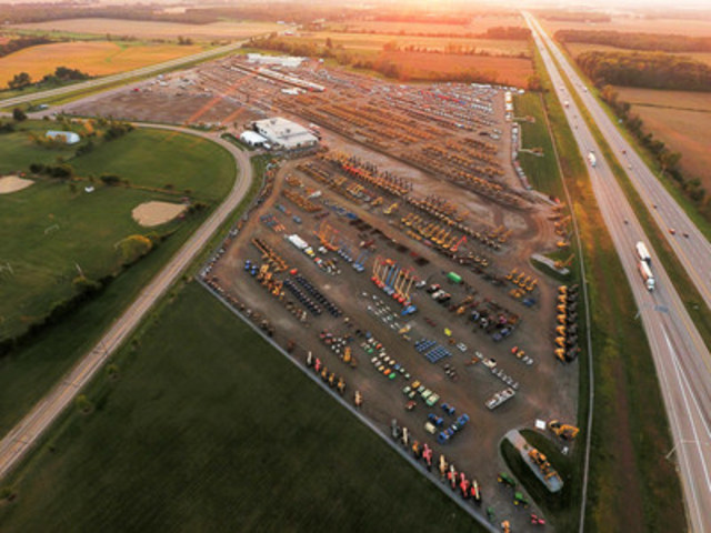 Ritchie Bros. sold US$76+ million of equipment at its record-breaking Columbus, OH auction this week (CNW Group/Ritchie Bros. Auctioneers)