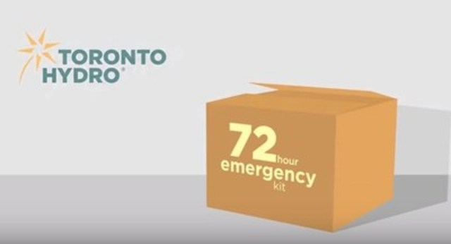 An emergency preparedness kit should be stocked with enough supplies to last 72 hours. (CNW Group/Toronto Hydro Corporation)