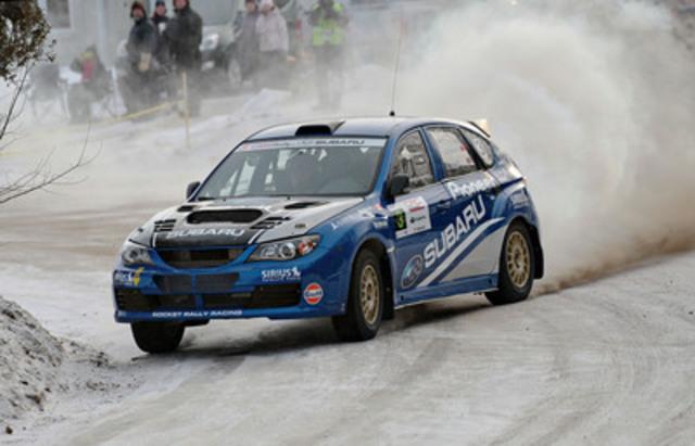 L'équipe de rallye Subaru Canada remporte le rallye Perce-Neige. Crédit photo: Philippe Erickson (Groupe CNW/Subaru Canada Inc.)