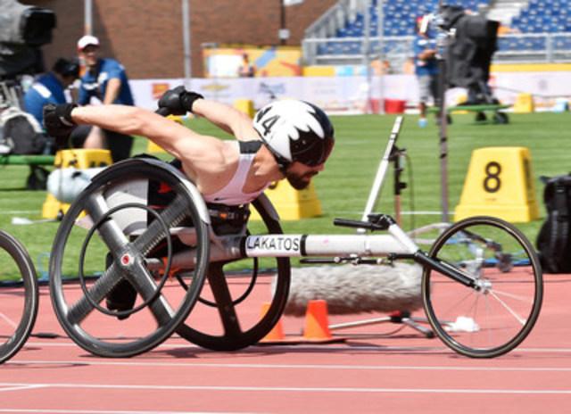 Le trois fois médaillé paralympique Brent Lakatos de Dorval, Québec a été mis en nomination pour Équipe Canada aux Jeux paralympiques de Rio 2016. Photo: Matthew Murnaghan / Comité paralympique canadien (Groupe CNW/Comité paralympique canadien (CPC))