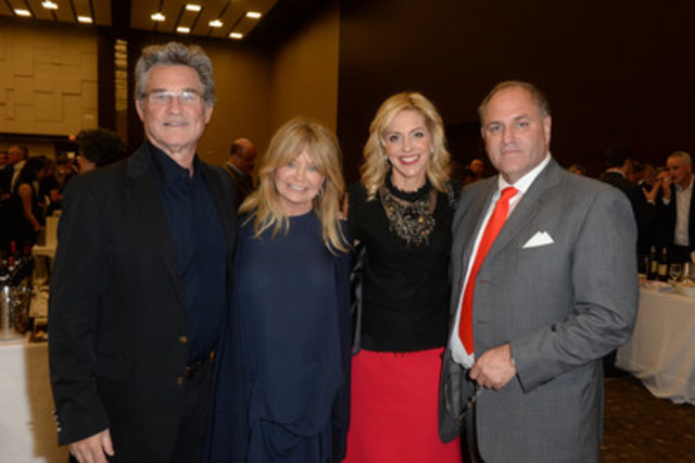 Kurt Russell, Goldie Hawn join Ellen Halpern and Grand Cru Founder Todd Halpern at the 11th annual Halpern Portfolio Wine Tasting and Grand Cru Live Auction in support of McEwen Centre for Regenerative Medicine, UHN on Thursday, October 29, 2015 at the Allstream Centre. (CNW Group/Toronto General & Western Hospital Foundation)