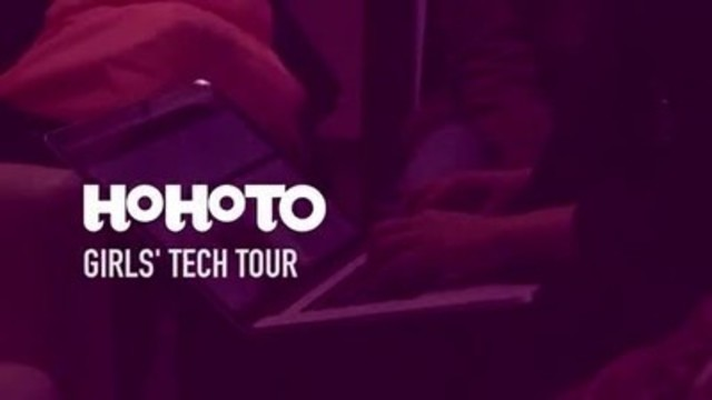 """Video: HoHoTO funds """"Girls' Tech Tour"""" and 2017 program with Girls' Centre participants aged 13-18"""