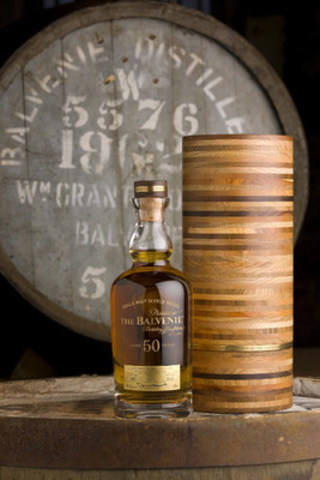 The Balvenie 'Fifty' is one of only 131 bottles in the world. Canada will receive one bottle which be available for purchase in Vancouver, British Columbia as of January 12th, 2016. (CNW Group/William Grant & Sons Ltd.)
