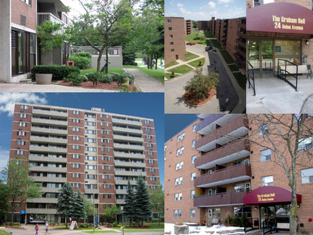 Southern Ontario Apartment Portfolio - 819 Suites Timbercreek Asset Management closed on this portfolio on June 8th, 2011. Formerly owned by Homestead Land Holdings the portfolio is com-prised of 50, 66 & 80 Mooregate Crescent in Kitchener and 24, 26 & 28 Helen Avenue in Brantford. (CNW Group/PRIMECORP COMMERCIAL REALTY INC.)