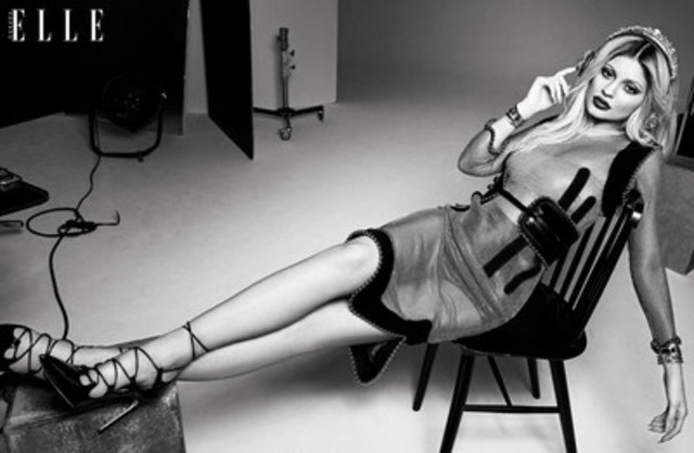Kylie Jenner rocks out on her ELLE Canada photo shoot (CNW Group/ELLE Canada)