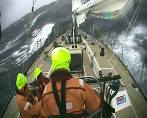 VIDEO: Video footage of Clipper race crew at sea.