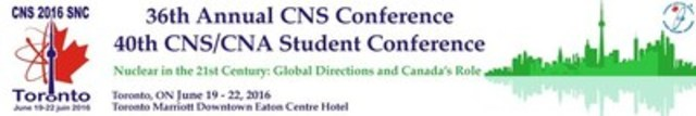 Logo: 36th Annual CNS Conference - 40th CNS/CNA Student Conference (CNW Group/Canadian Nuclear Society)