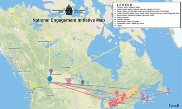 National Engagement Initiative Map (CNW Group/National Energy Board)
