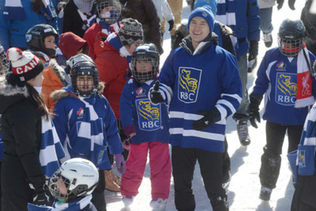 More than 300 skaters joined Patrick Chan on the ice at Harbourfront Centre on Monday, helping RBC attempt a new Guinness World Record for the largest-ever skating lesson. The event was one of more than 35 free Family Day skates hosted by RBC across Ontario. (CNW Group/RBC)