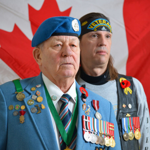Veterans Ron Clarke and Vince Rigby say the closure of the Sydney office has made things much harder for them  (CNW Group/Public Service Alliance of Canada)