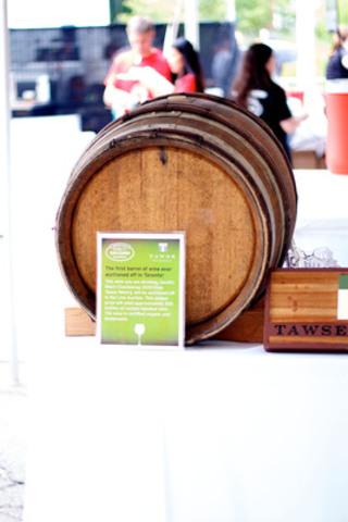 The Tawse wine barrel at Toronto Taste 2011 (CNW Group/Second Harvest)