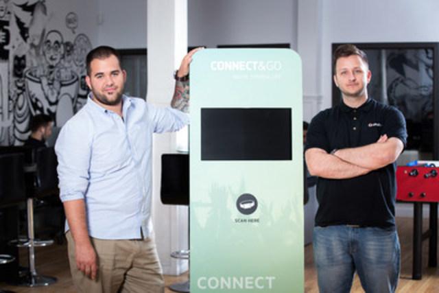 Les deux cofondateurs de Connect&Go, Dominic Gagnon et Anthony Palermo (Groupe CNW/Connect&Go)