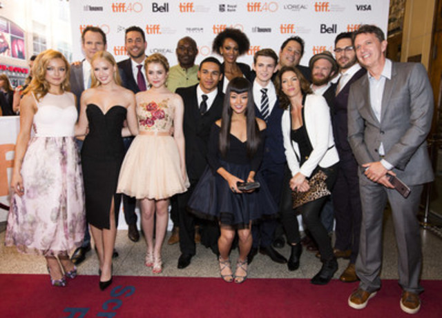 The cast and creator of Global's Heroes Reborn at the world premiere at the Toronto International Film Festival. (CNW Group/Shaw Media)