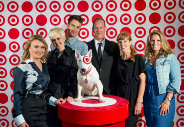 Last night, Target presented its impressive fashion show for the fall at the Montreal Fashion and Design Festival. Livia Zufferli, Vice President, Marketing, at Target Canada, Geneviève Borne, Bobby Bazini, Jean-François Daviau and Chantal Durivage, Groupe Sensation Mode, Saskia Thuot, as well as Bullseye were on the red carpet for the event. (CNW Group/Target Canada)
