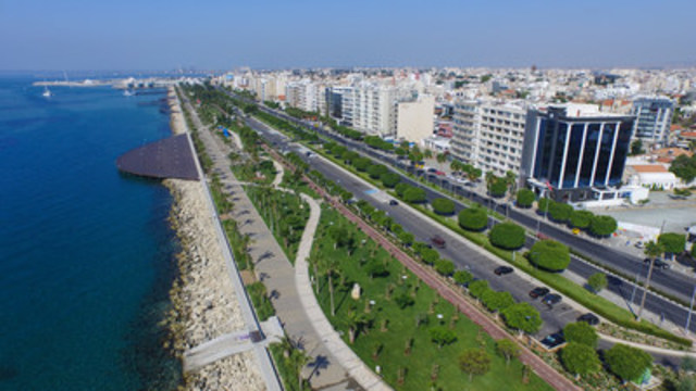 Aerial view of Molos, Limassol - a symbol of Cypriot resilience and testament to the economic dynamism of the island. (CNW Group/Arton Capital)