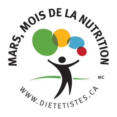 Mars, Mois de la nutrition (Groupe CNW/Les diététistes du Canada)